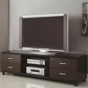 tv stands coaster 71 quot 4 drawer two tone tv stand in black 700826