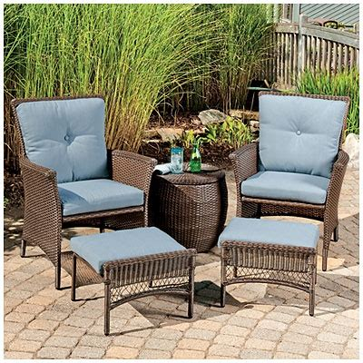 wilson and fisher patio furniture wilson fisher 174 chelsea resin wicker 5 seating set with cushions at big lots