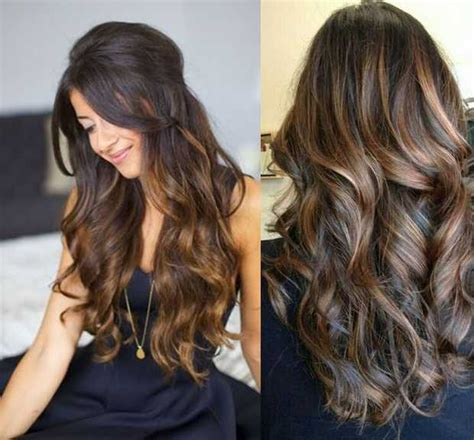 hairstyles dark with highlights multi tone highlights brown hair images