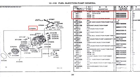 Spare Parts Hino Truk Fm Assy Injection me226699 assy fuel injection spare part truck