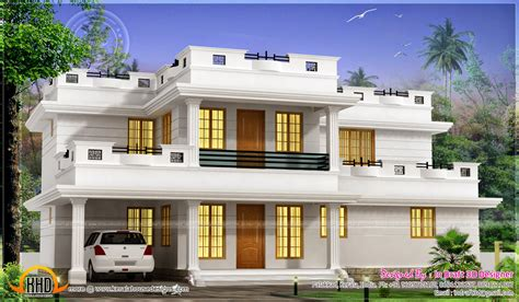 home designer pro flat roof 2175 square feet 4 bhk flat roof house kerala home