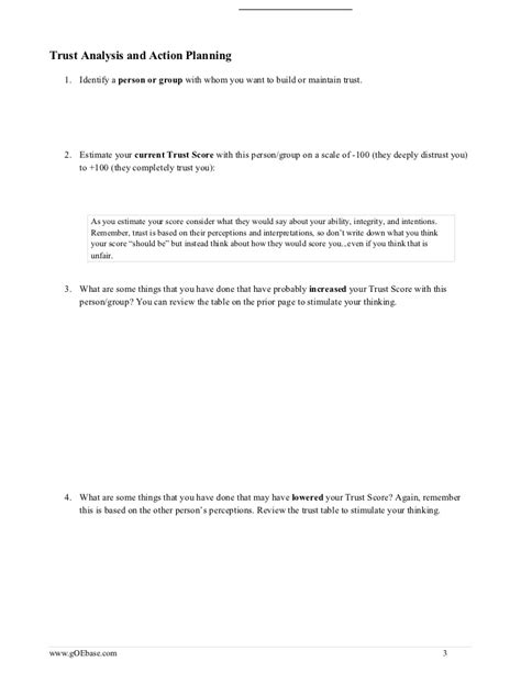 jealousy workbook of creating trust in your relationship books building trust worksheet