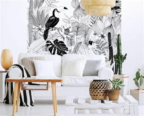 attrayant deco couloir noir et blanc 13 papier peint selection d 233 co top 10 des papiers peints tropicaux