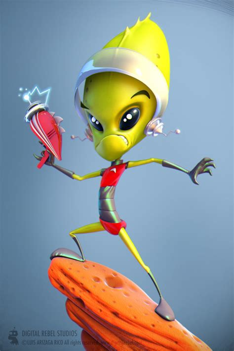blender tutorial alien making of captain proton by luis arizaga page 1 of 3