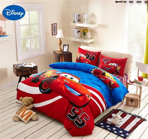 home decorators bedding lightning mcqueen cars bedding set cotton bedclothes