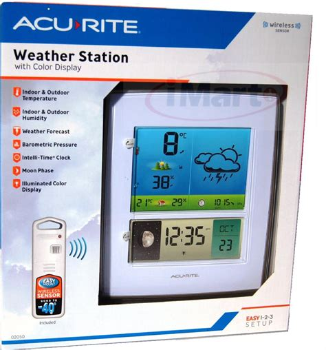 acurite backyard weather thermometer acurite color weather station indoor outdoor temperature