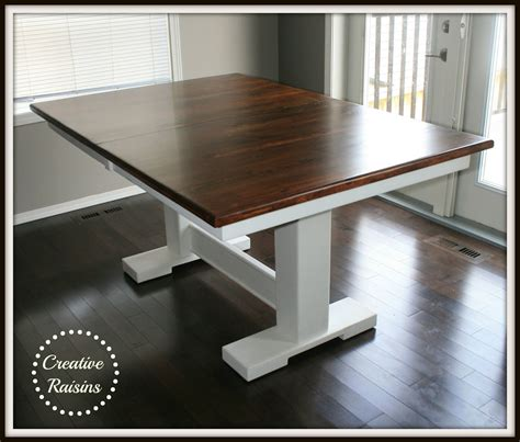 creative raisins kitchen table redo