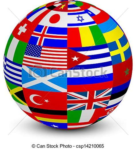 clipart mondo sfera 3d bandiere mondo illustrazione sfera vettore