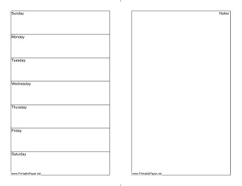 printable daily calendar notes 7 best images of printable daily notes page free