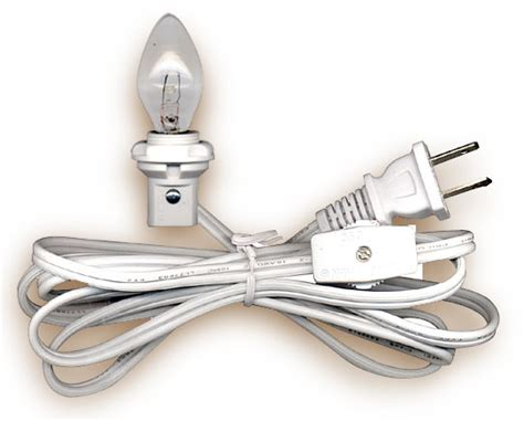 electric cord with bulb sockets l cord sets with candelabra base light bulb national artcraft