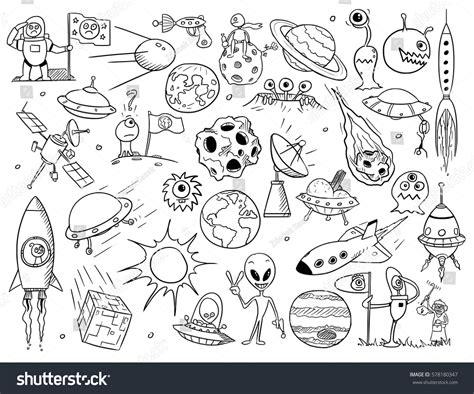 doodle monsters vector set vector doodle monsters stock vector