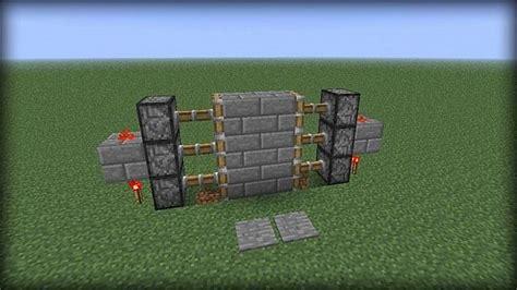 How To Make A Piston Door how to make a piston door in minecraft minecraft