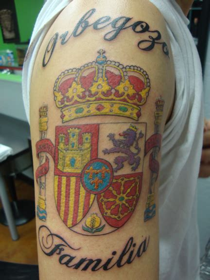 spanish tattoo designs coat of arms and coats on