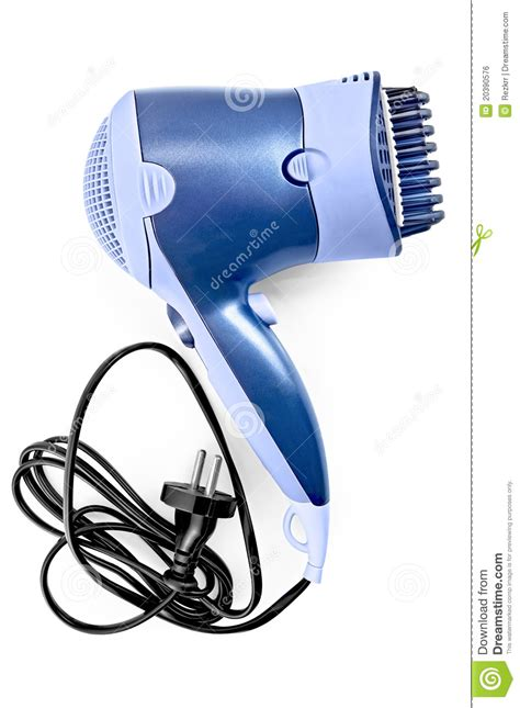Hair Dryer Brush Attachments hair dryer with comb attachment stock photo image 20390576