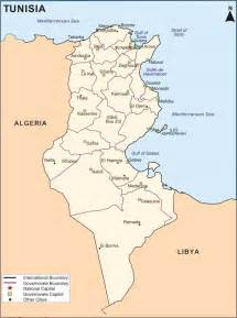 where is tunisia in the world map maps of kairouan