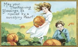 the spooky vegan vintage thanksgiving postcards