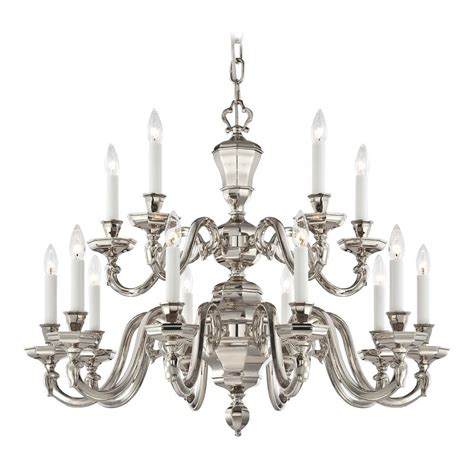 Polished Nickel Chandeliers Chandelier In Polished Nickel Finish N1117 613 Destination Lighting