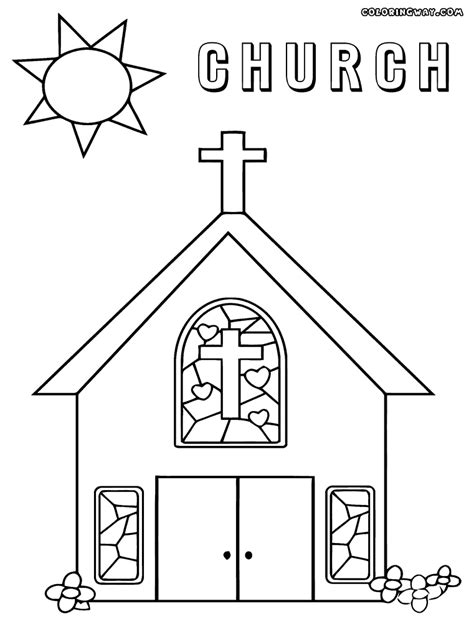 coloring pages of a church az coloring pages