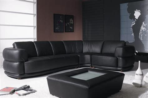 Contemporary Black Leather Sofa Yil T25 Contemporary Black Leather Sofa
