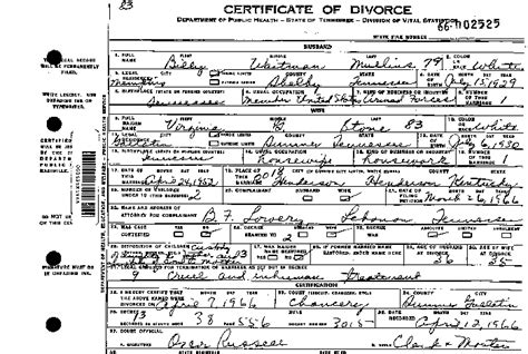 Divorce Decree Records Divorce Records Tennessee Of State