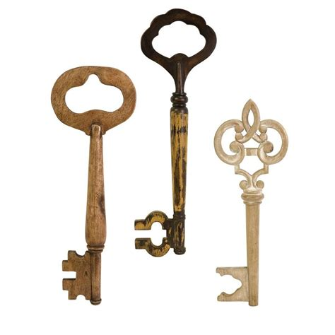 design home keys home decorators collection walter wooden wall keys set of