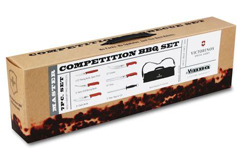 victorinox gourmet knife set 24 piece black fibrox victorinox fibrox bbq knife roll set 7 piece cutlery