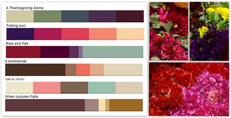 fall color schemes fall colors palettes pennock floral