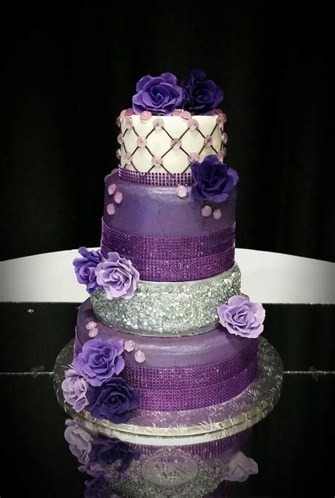 purple bling wedding cake purple bling wedding cake cakes by