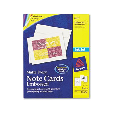 Avery Note Card Templates 8317 avery 8317 note cards with matching envelopes