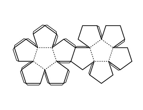 Dodecahedron Template pattern for dodecahedron clipart etc