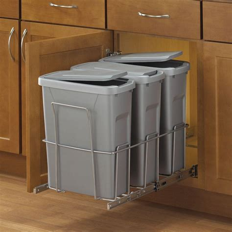 pull out cabinet trash can 30 quart in cabinet trash cans real solutions for real life 18 in h x 14 in w x 23 in