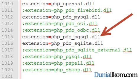 tutorial php postgresql pengertian pdo dan cara mengaktifkan pdo php data objects