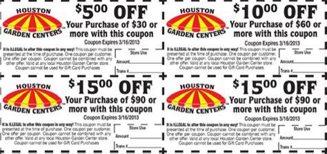 houston garden center  printable coupons