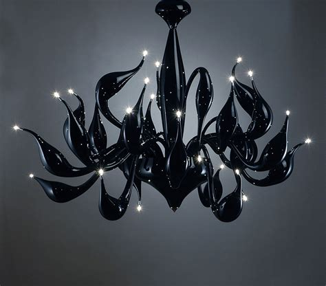 Lu Light black chandelier lu 11 for a modern interior lighting design