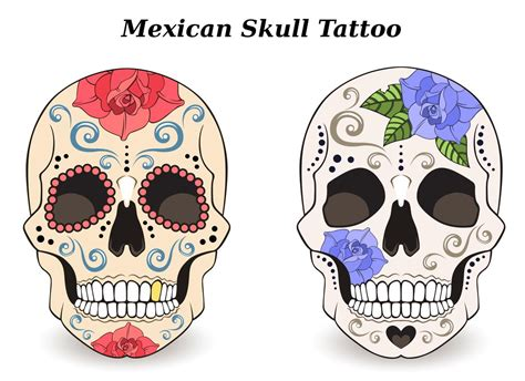 mexican skull tattoo designs mexican skull
