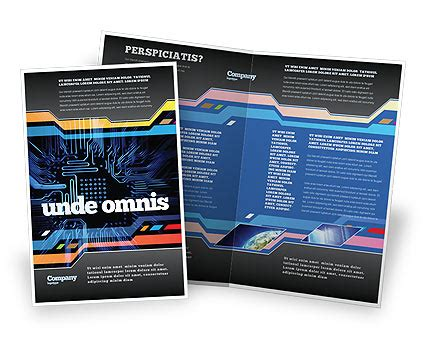 computer brochure templates computer scheme brochure template design and layout