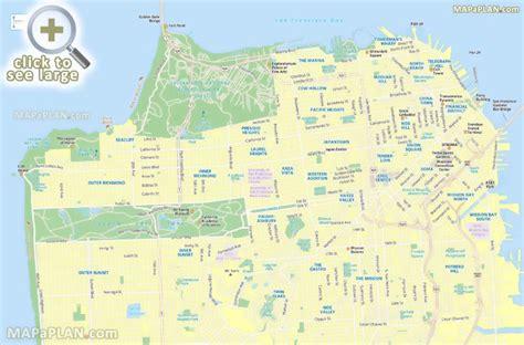 san francisco grade map san francisco maps top tourist attractions free