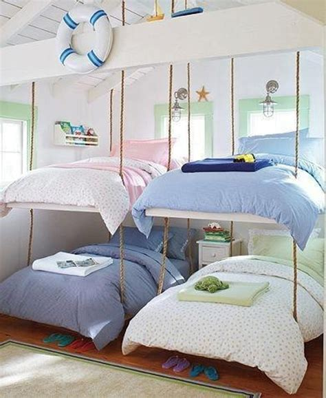 9 Cool Suspended Beds For A Kids Bedroom Kidsomania Cool Bedrooms With Bunk Beds