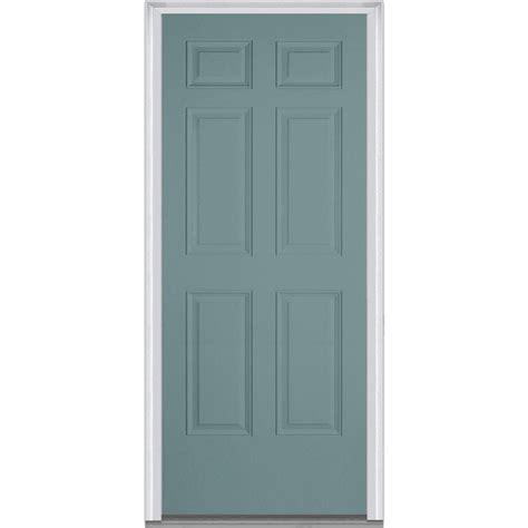36 X 78 Exterior Door Milliken Millwork 36 In X 80 In Right Inswing 6 Panel Classic Painted Fiberglass Smooth