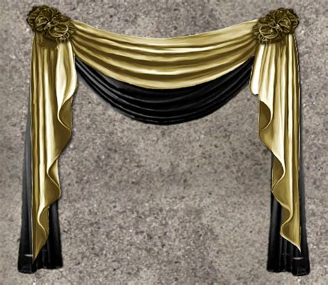 gold and black curtains second life marketplace nb curtain drapes gold black
