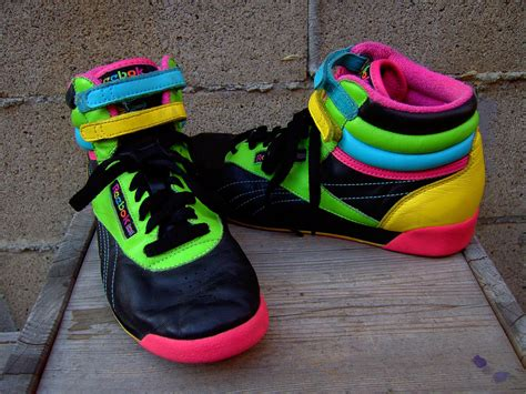 80 s sneakers killer 80s high top neon reebok sneakers tennis shoes 8 by