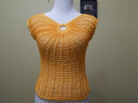 blusa tejida a crochet para verano parte 1 de 2 blusa tejida de verano imagui