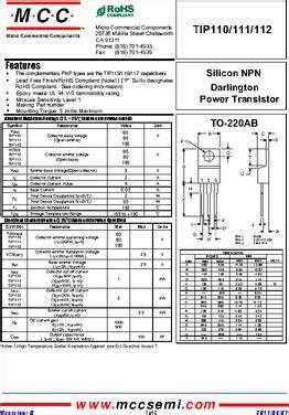 transistor darlington tip 110 tip110 bp datasheet specifications transistor type npn darlington voltage