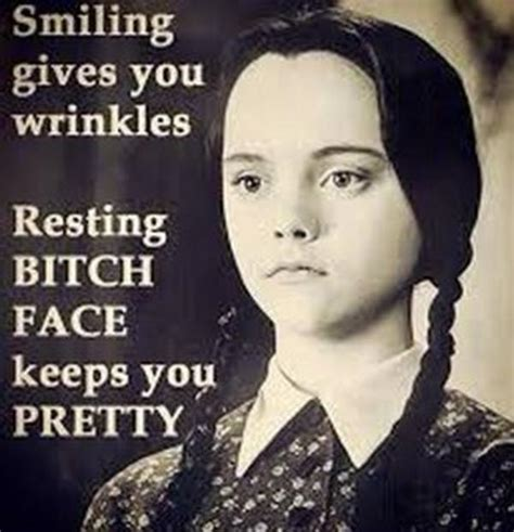 Bitch Memes - smiling gives you wrinkles resting bitch face know