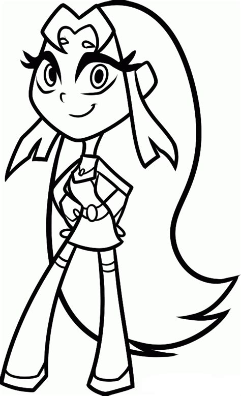 teen titans  coloring pages starfire coloring  kids