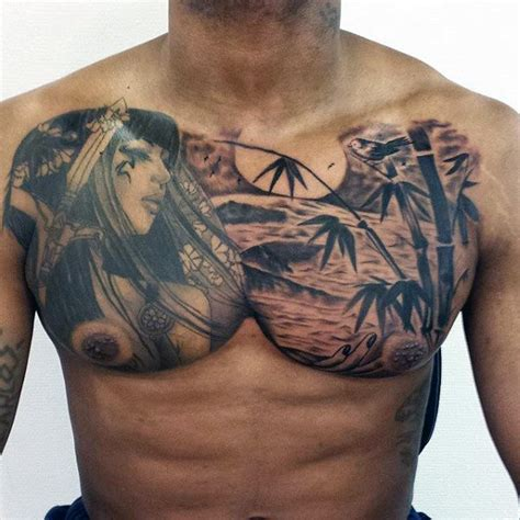 upper chest tattoo designs 50 bamboo designs for lush greenery ink ideas