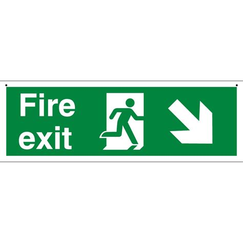 the exit light company suspended fire exit signs from key signs uk