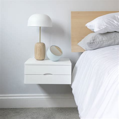 floating shelf side table floating bedside table with drawer by urbansize
