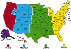 us central time zone map