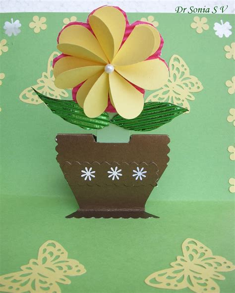 card crafts cards crafts projects pop up card growing flower